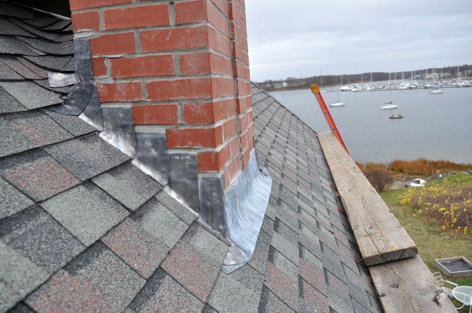 Chimney Counter-Flashing Shows Quality